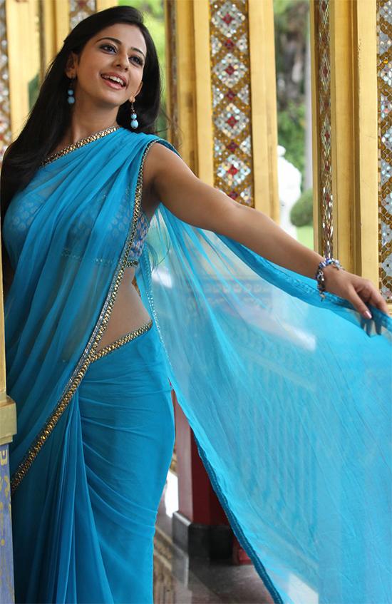 Rakhul preet in Blue Saree
