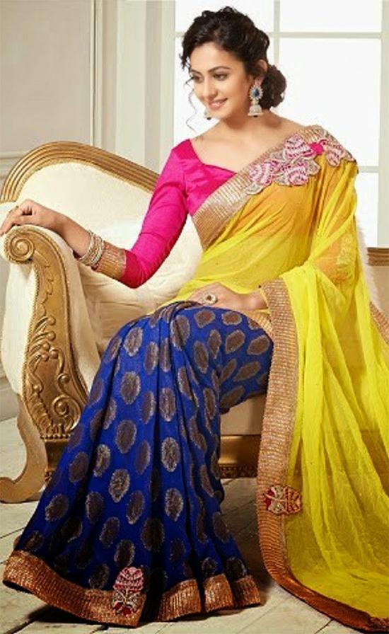 Rakul Preet In Yellow Chiffon Saree