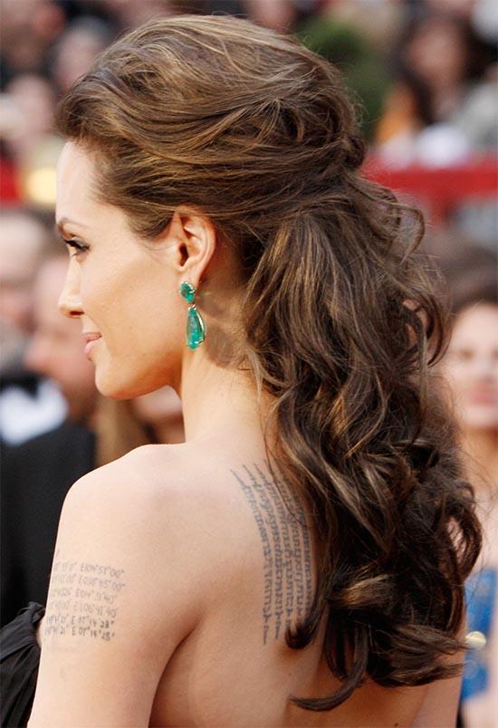 Angelina Jolie Half Up