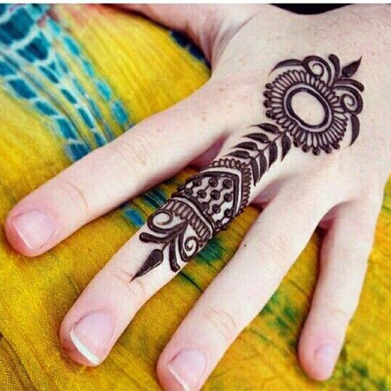 Beautiful Ring Mehendi Designs