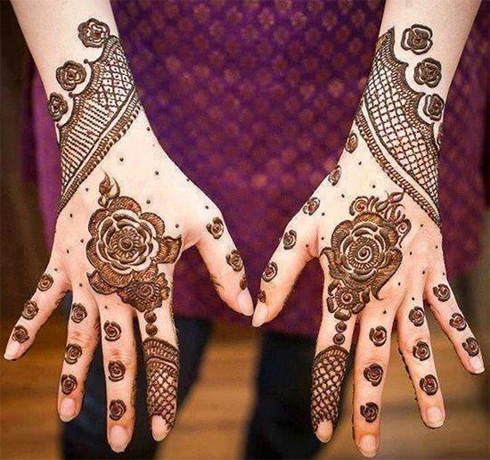 Beautiful Wedding Walima Mehendi Design