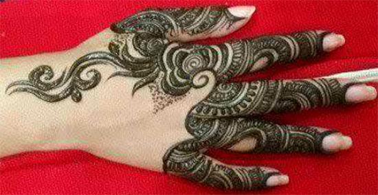 Chand Raat Mehendi Design For Fingers