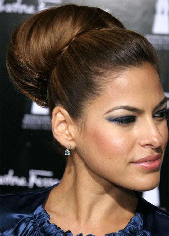 Eva Mendes Bun Hairstyle