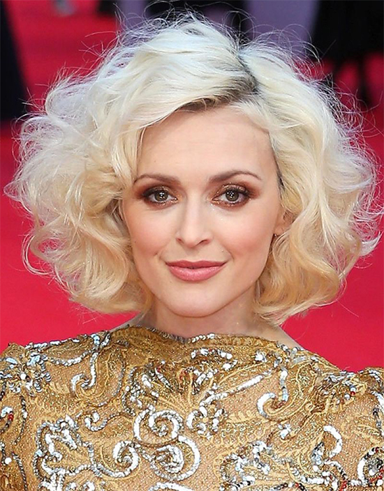 Fearne Cotton in Curly Bob Hairstyle