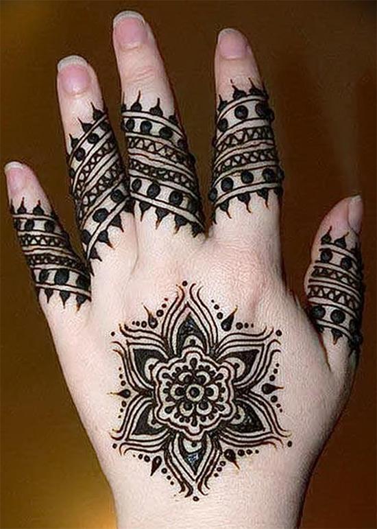 Finger Henna Designs Flower