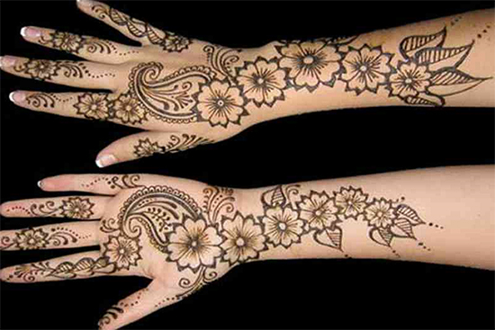Full arms Special Mehandi Design for valentines day