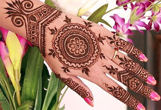 Gallery Of Circle Mehendi Design For Weddings