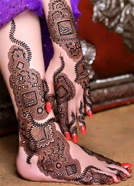 Hand and Leg Special Mehandi design
