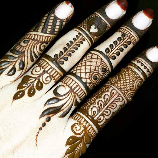 Khafif Mehendi Designs For Fingers