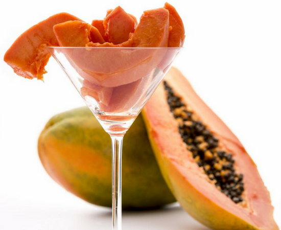 Papaya contains an enzyme