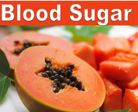 Papaya has very low sugar content