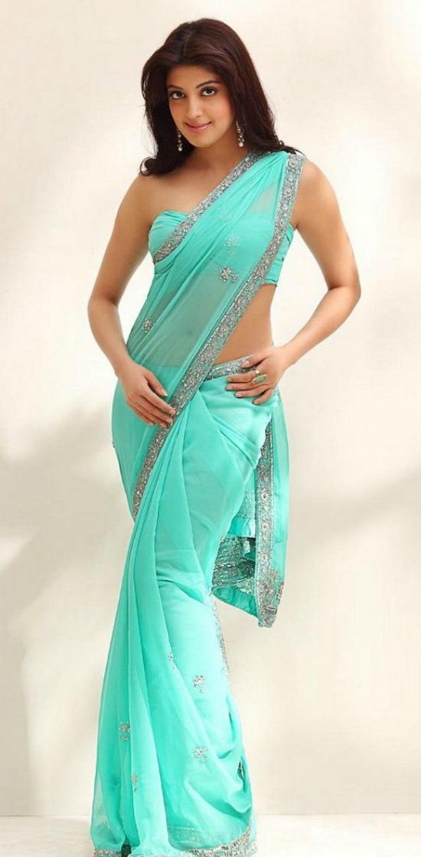 Pranitha In Sleeveless Corset Blouse Design