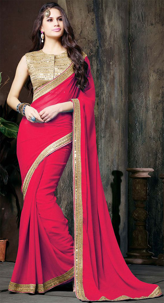 2a7baa3f29e59c Embroidered Blouse Designs That Suits Perfectly For Chiffon Sarees