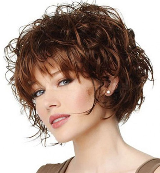 Short Curly Hairstyles For Fine Hairs