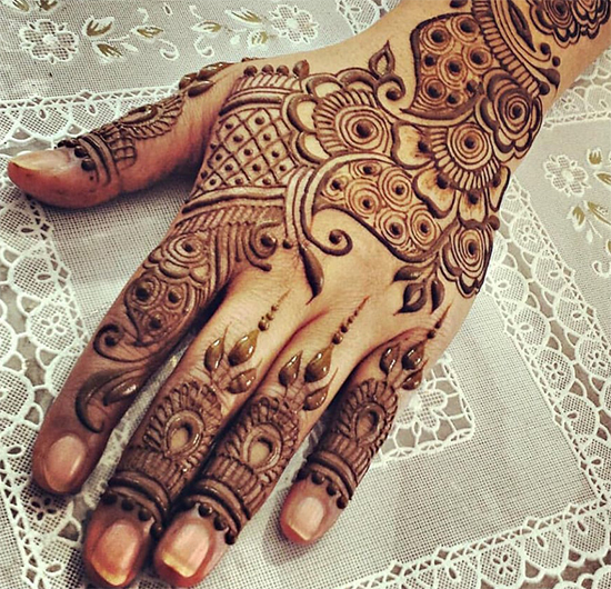 Simple Floral Henna Design On Finger