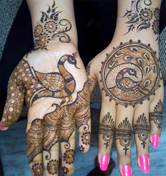 Special Mehandi design for peacock lovers