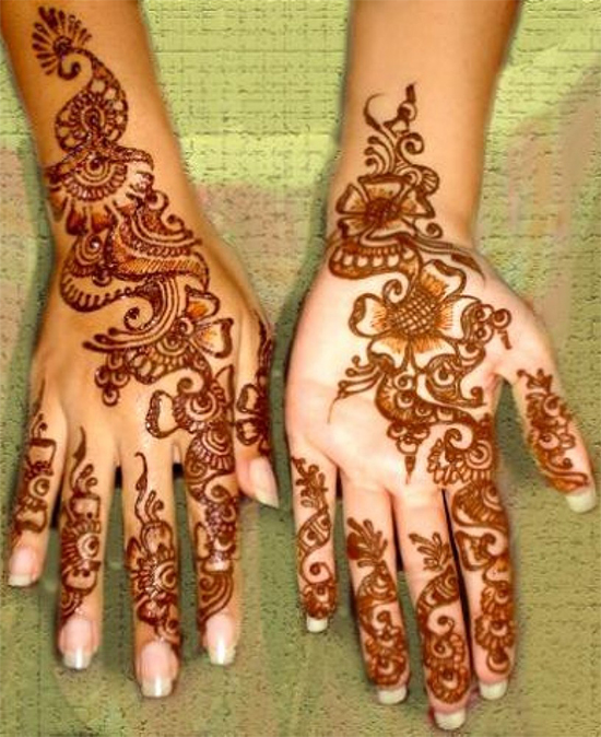 Special mehandi design with flowers