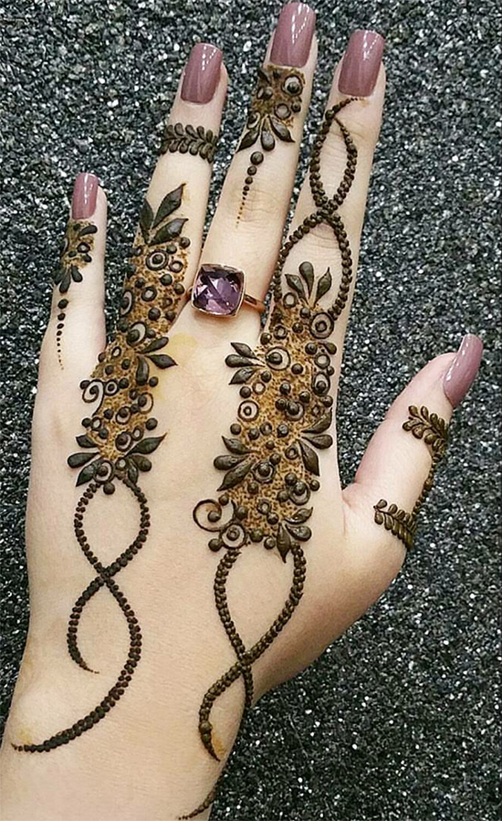 25 Easy And Latest Mehndi Designs For Fingers With Unique And