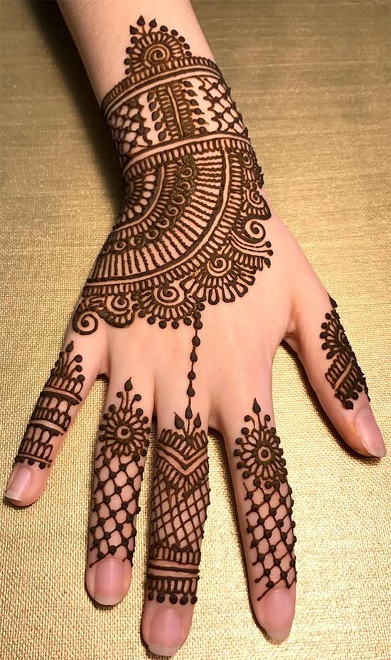 Superlative Mehendi Designs For Fingers