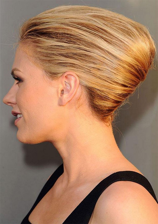 Blonde French Twist Hairstyle