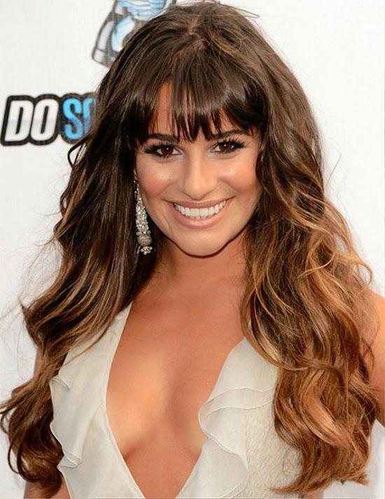 Lea Michele Fringe Hairstyle