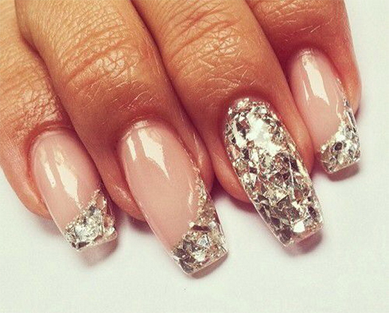 Light Pink & Crystal Nail Art - 10 Best Crystal Nail Art Designs - Absolutely Eye-Catchy