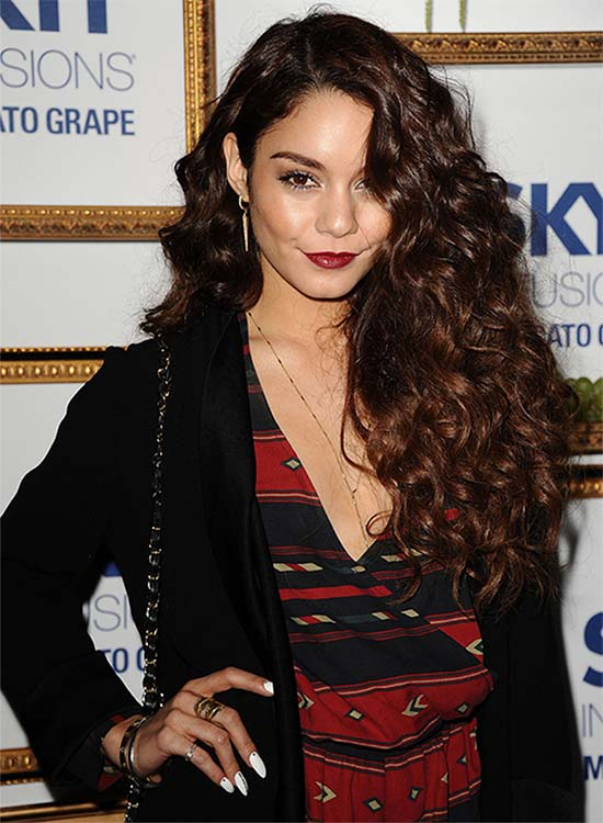 Vanessa Hudgens Curly Hairstyle
