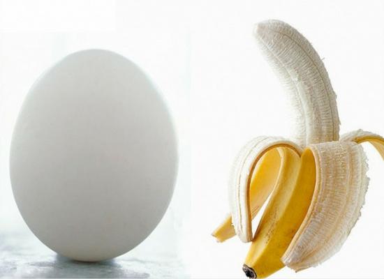 Banana with egg