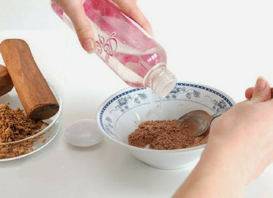 Sandalwood powder with Rose water