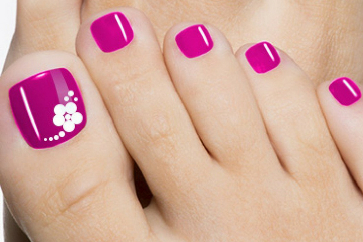 Top 10 Cute Pink Toe nail art designs and ideas - simply attractive!